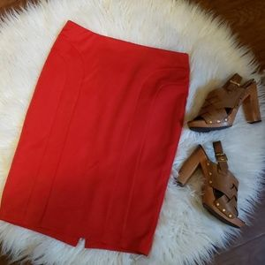Red stretchy skirt